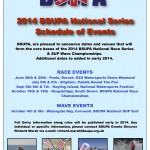 2014 BSUPA National Series Schedule of Events
