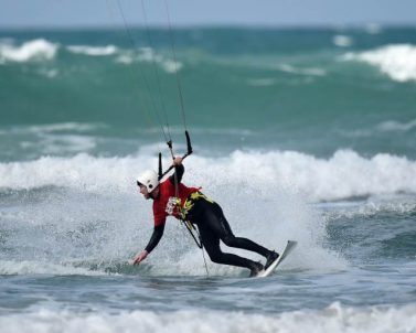 Paul Stebbing kitesurfing action